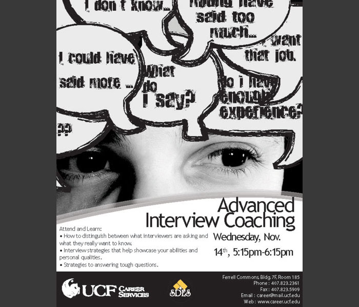 UCF Career Event Poster
