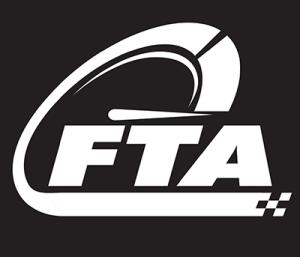 RED design FTA showcase black shirt white logo